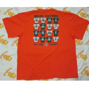 MIAMI DOLPHINS *2010 TEAM & SCHEDULE* T- Shirt XL